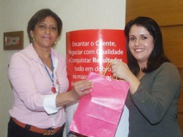 Alda Helena (coordenadora filial São Paulo 1) e Aline Ribeiro (recuperadora premiada filial São Paulo 1)