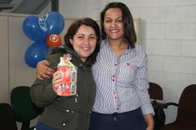 Luciana (recuperadora premiada) e Solange (coordenadora)