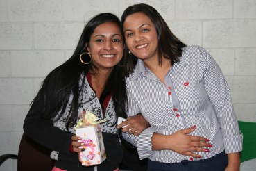 Elizangela (recuperadora premiada) e Solange (coordenadora)