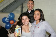 Karina (recuperadora premiada), Wanderson e Solange (coordenadores)