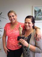 Jalceli Gobor (coordenadora Curitiba) e Lucicleia Pizato (estrela da filial Curitiba)