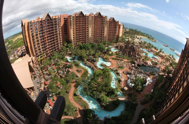 AULANI, OVERALL -- With its fun recreation features and restaurants, its comfortable rooms, and its combination of Disney magic with Hawaiian beauty, tradition and relaxation, Aulani, a Disney Resort & Spa in Hawai'i, offers a new way for families to vacation together on the island of O'ahu. (Paul Hiffmeyer/Disney Destinations)