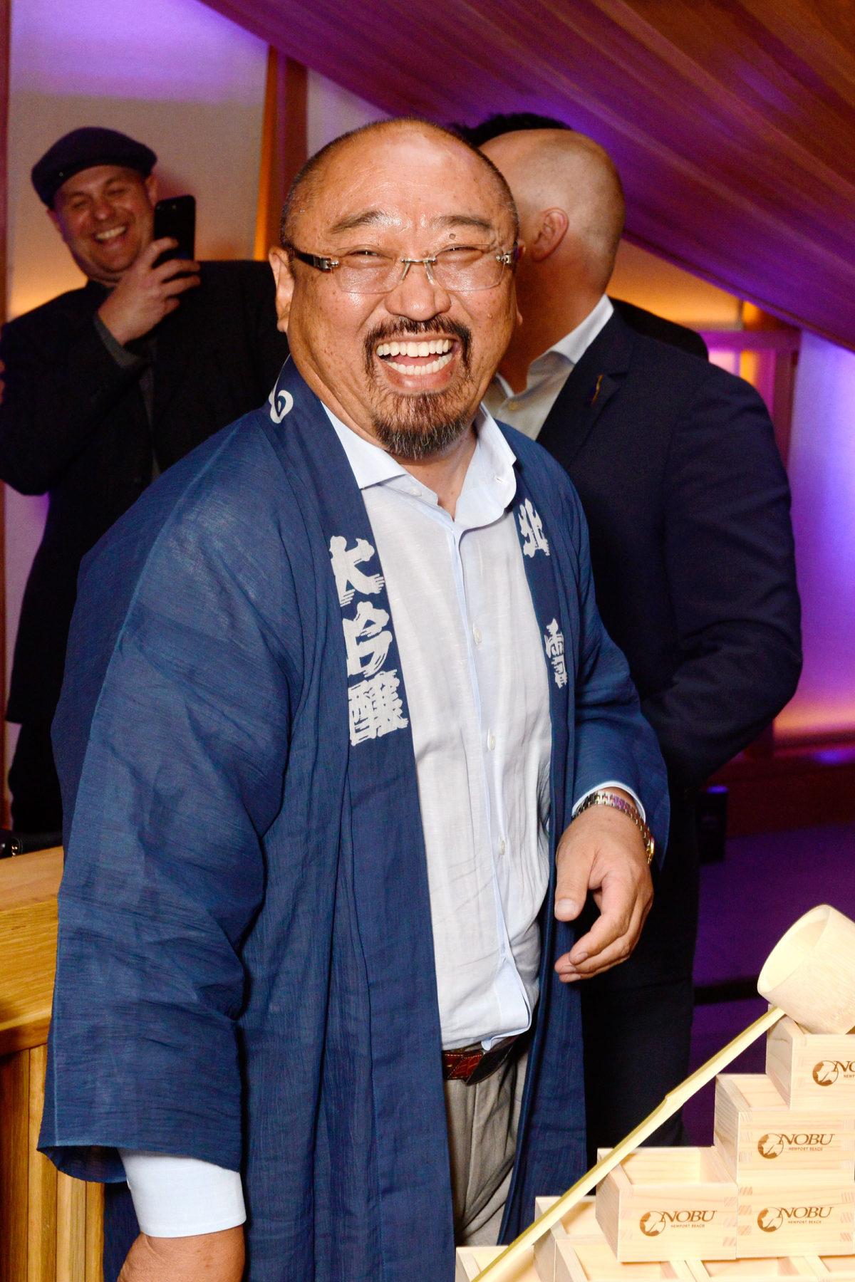 Fumio Hazu and Leong Loh at the Nobu Newport Beach Sake Ceremony