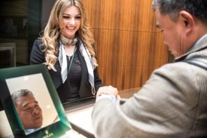 Agnieszka Kmiec of Rolex Boutique and Josh Laheru