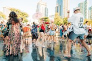 Splash Fountains anyone? With the perfect weather, and music blasting, these reflecting pools sure had everyone catching a vibe!
