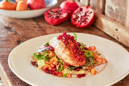 Grilled Pomegranate Glazed Salmon Salad_Farmhouse