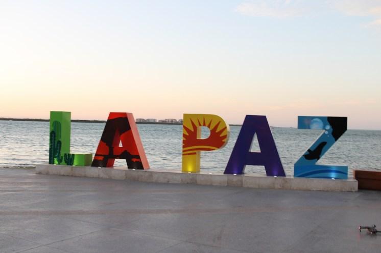 LA Paz Malecon Sign