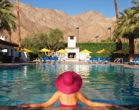 La Quinta-Main Pool with Pink Hat_La Quinta Resort