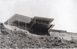 Hugh Kaptur. View of Thomas Griffing (later Steve McQueen) Residence from below, Southridge neighborhood of Palm Springs, ca. 1962. Photograph by Bethlehem Steel. Personal collection of Hugh Kaptur.