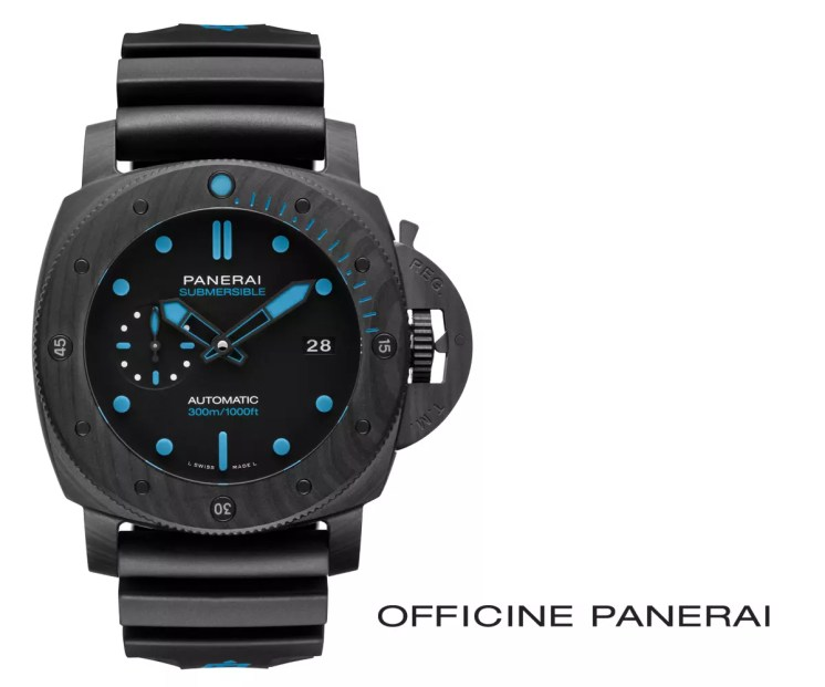 PAM01616 Automatic Submersible Carbotech 47MM in matte black