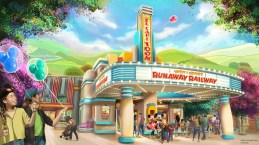 """Mickey & Minnie's Runaway Railway will be located in a new area of Mickey's Toontown at Disneyland Park in California. When the attraction debuts in 2022, guests will take a journey inside the wacky and unpredictable world of Disney Channel's Emmy® Award-winning """"Mickey Mouse"""" cartoon shorts. (Disney)"""