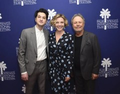 "PALM SPRINGS, CA - JANUARY 06: Actors Ben Schwartz, Billy Crystal and Eloise Mumford attend a screening of ÒStanding Up, Falling Down"" at the 31st Annual Palm Springs International Film Festival on January 6, 2020 in Palm Springs, California. (Photo by Vivien Killilea/Getty Images for Palm Springs International Film Festival)"