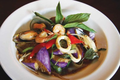 Lemon Thai Cuisine_5 Points Plaza_SeafoodEggplant