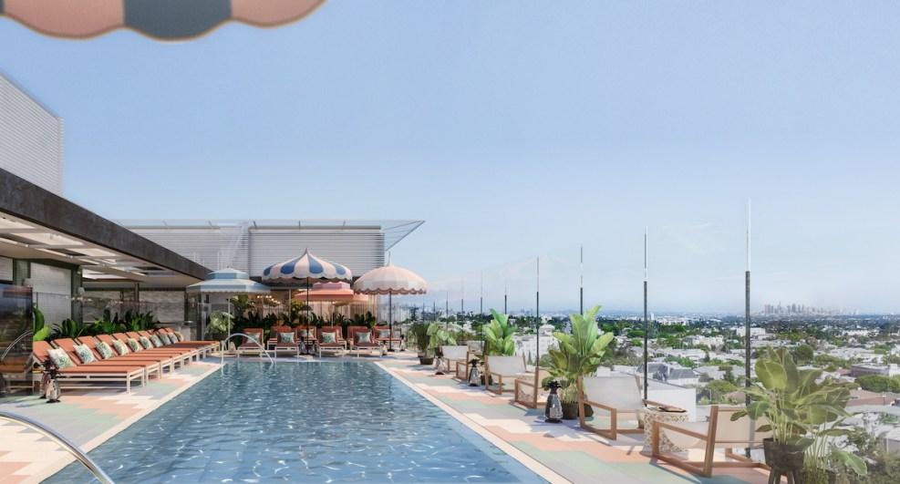 Pendry_WEHO_Hotel_Exterior Hotel Pool_Rendering