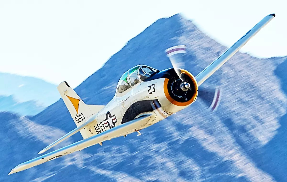 Navy T-28 Trainer at the Palm Springs Air Museum