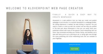 Welcome to kloverpoint Web Page Creator | kloverpoint