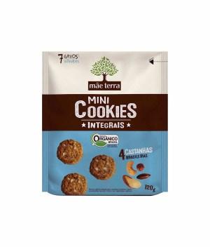 Mini Cookie 4 Castanhas Brasileiras Integral Orgânico