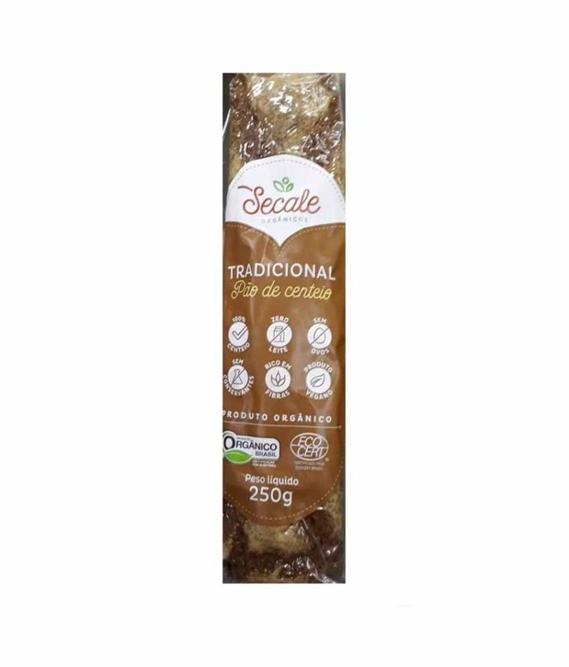 Pão de Centeio Tradicional Orgânico
