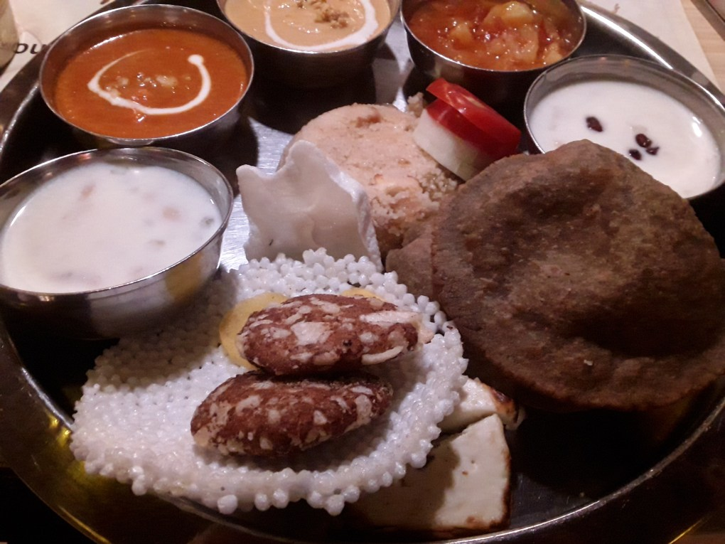 Navratri Thali at Pind Balluchi