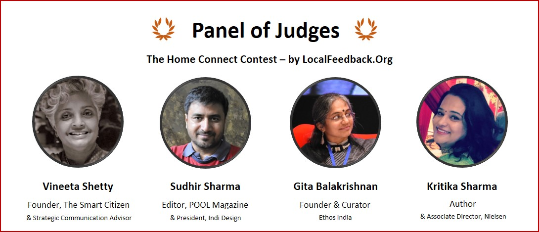 panel of judges at the home connect contest