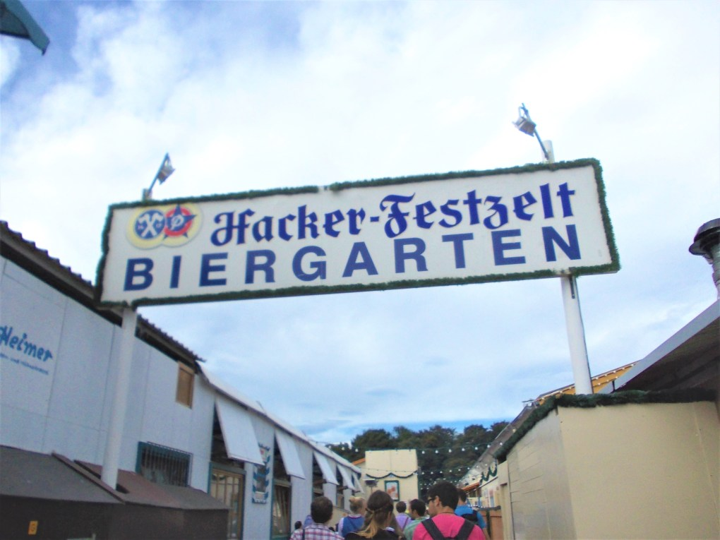 oktoberfest ground biergarten hackerr festzelt