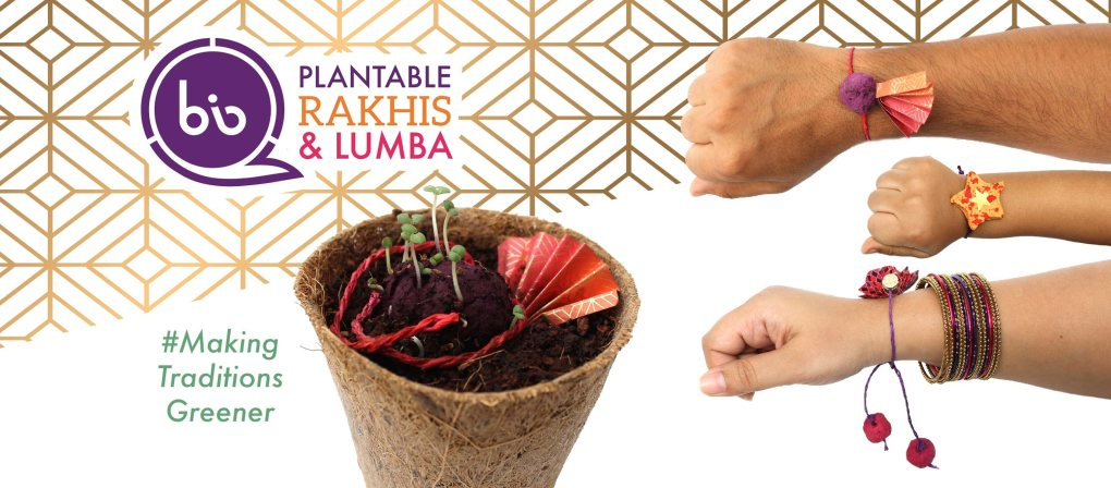 ecofriendly plantable rakhis bioq