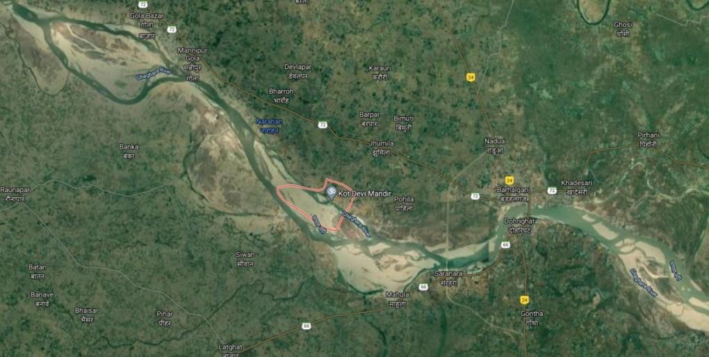 belpar village location saryu river gorakhpur