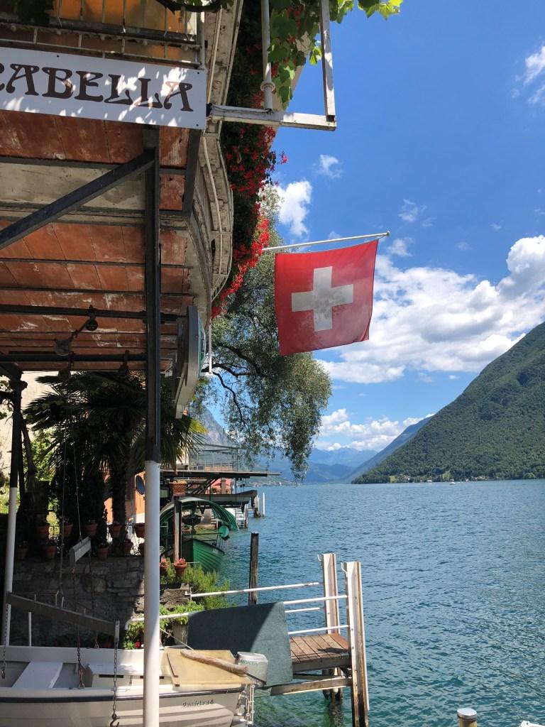Gandria to Lugano ferry deboarding point gandria