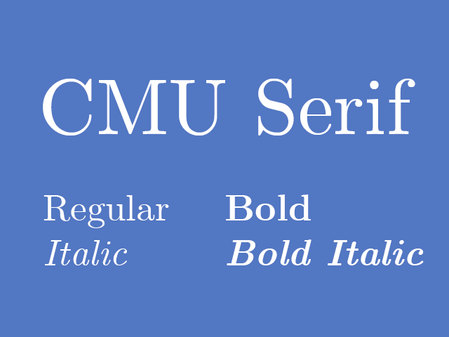 CMU Serif