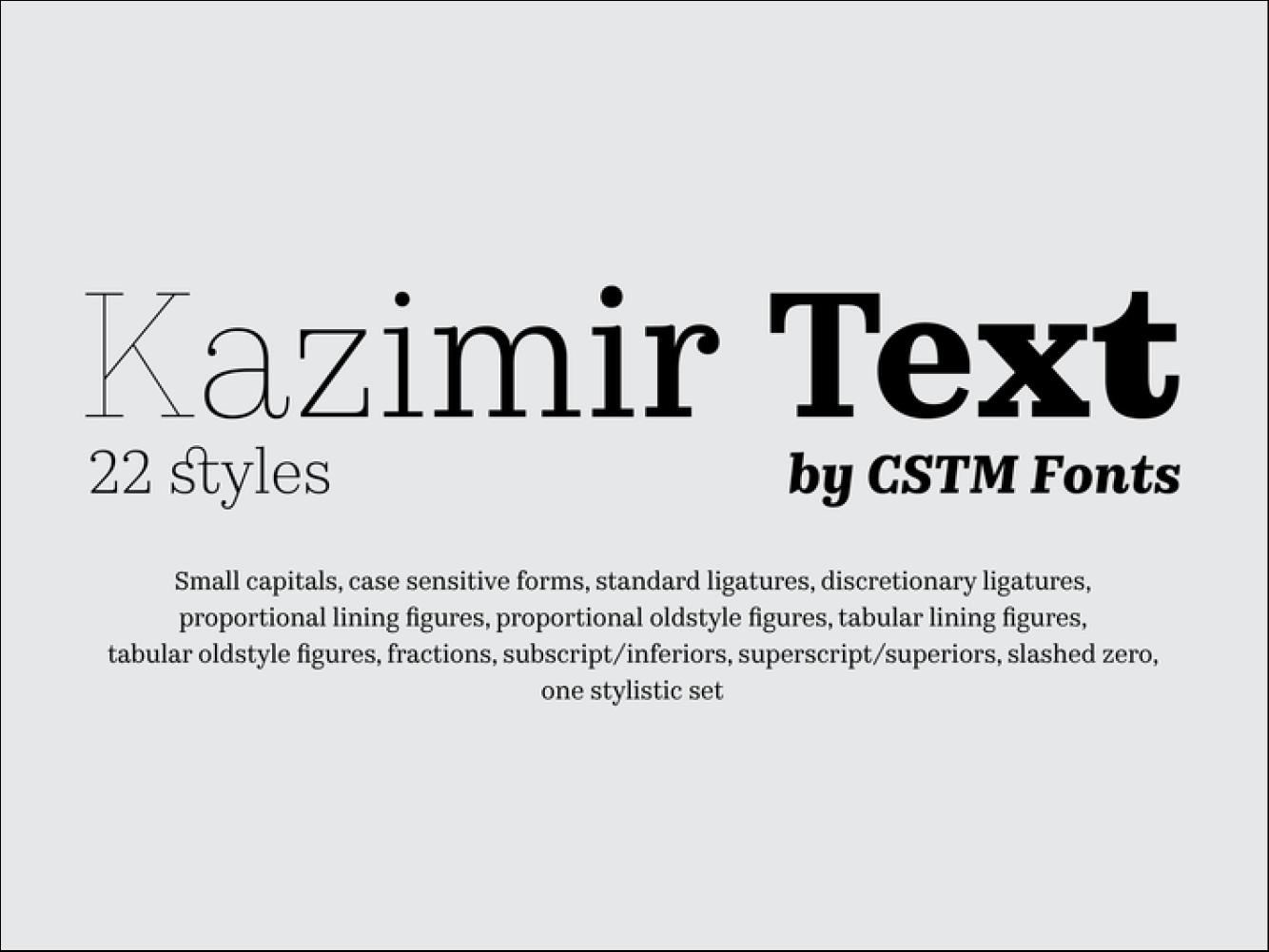 Kazimir Text