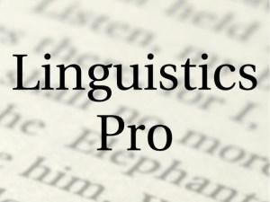 Linguistics Pro