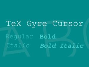 TeX Gyre Cursor