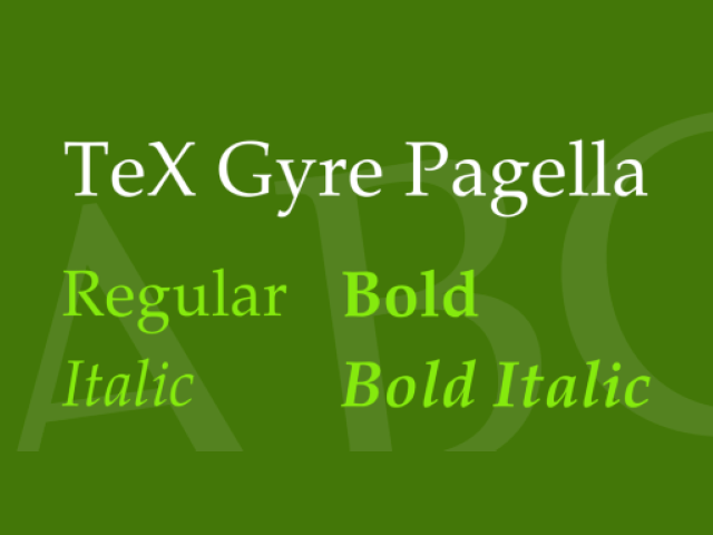 TeX Gyre Pagella