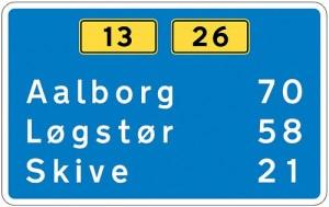 Dansk Vejtavleskrift typeface