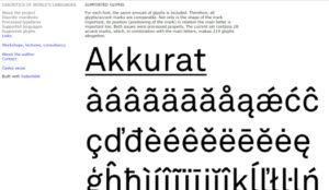 Diacritics of world's languages