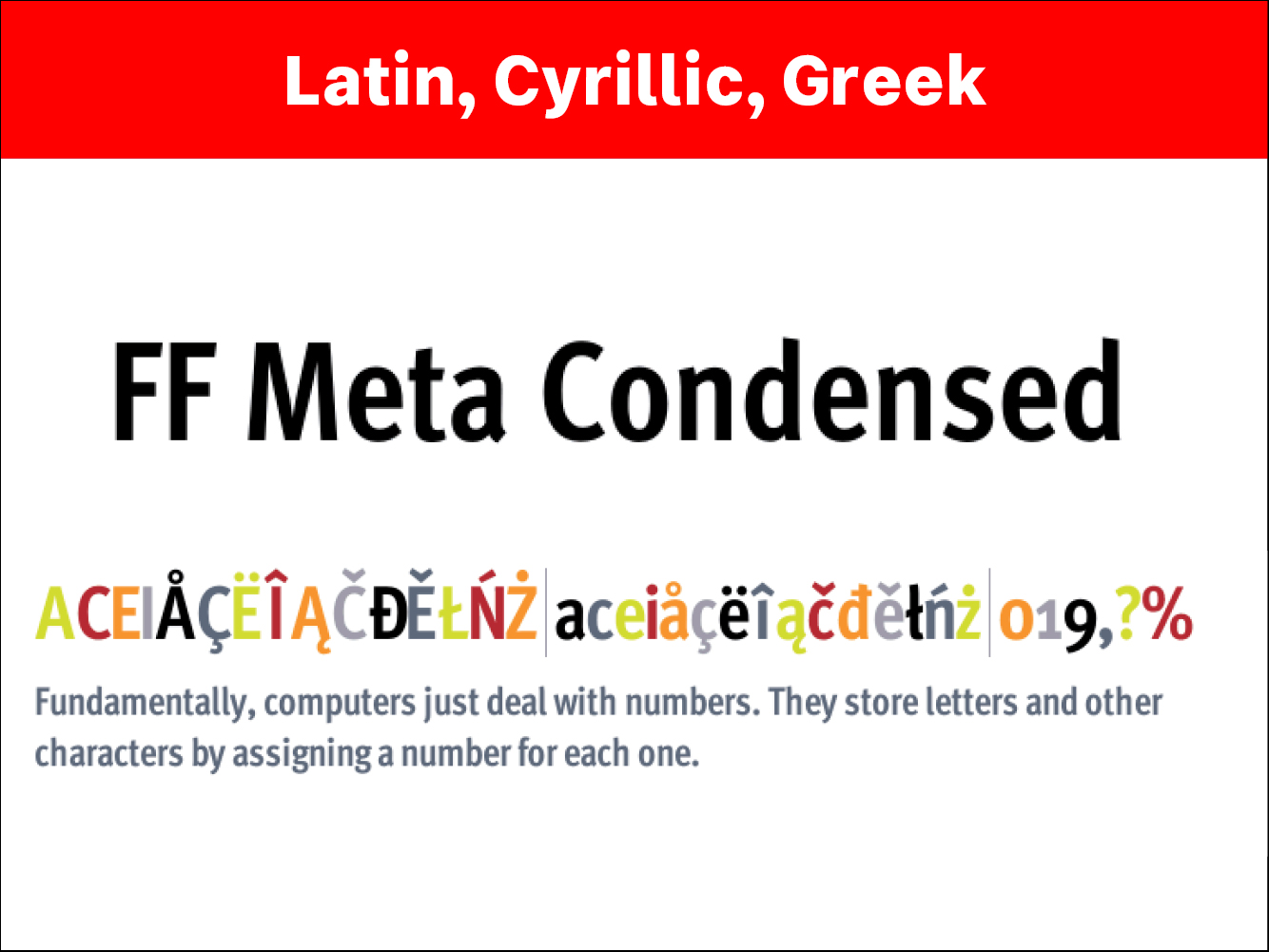 FF Meta Condensed