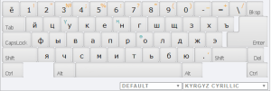 Kirgiz Cyrillic Online Keyboard