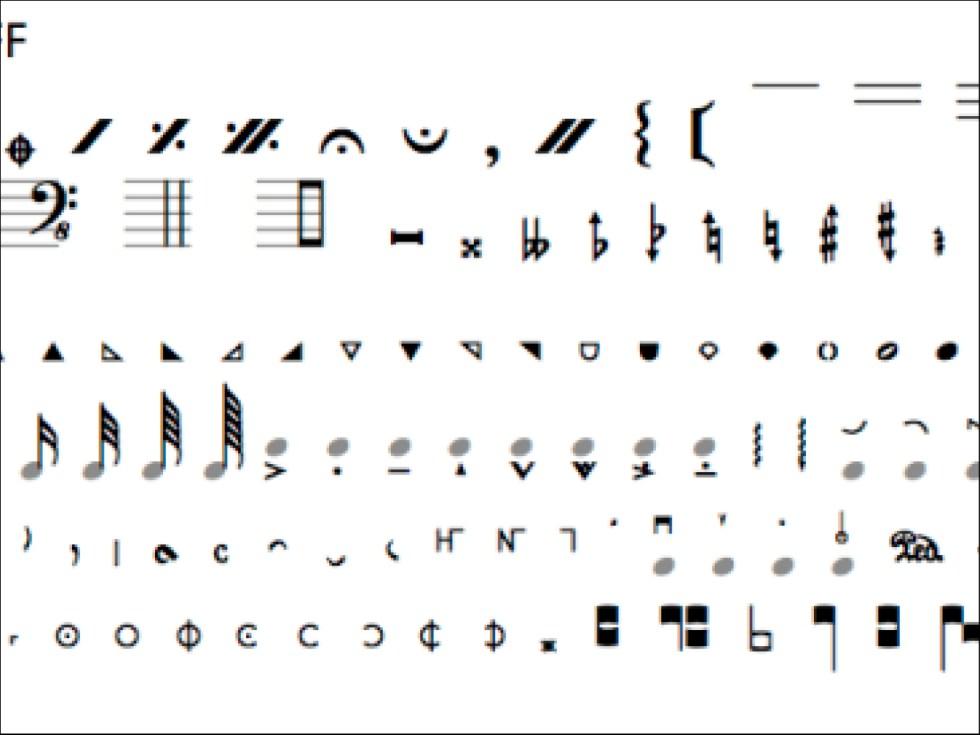Musical Symbols Or Musica Local Fonts