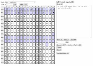 Full Unicode input utility