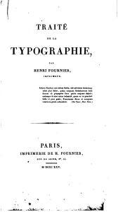 Traité de la typographie by Henri Fournier