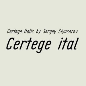 Certege Italic