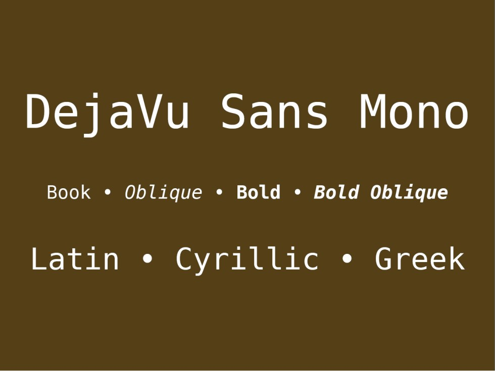 28 Best fonts to use in a terminal emulator as of 2019 - Slant