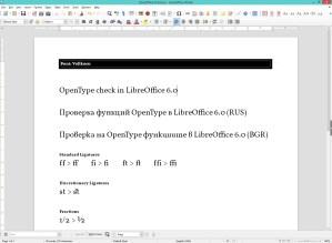 OpenType in LibreOffice