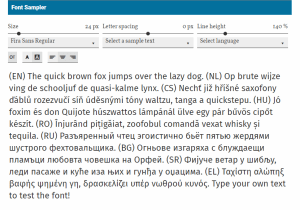 Fontsampler WordPress Plugin