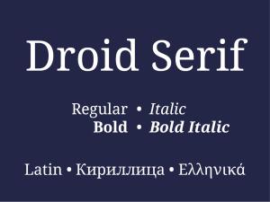 Droid Serif