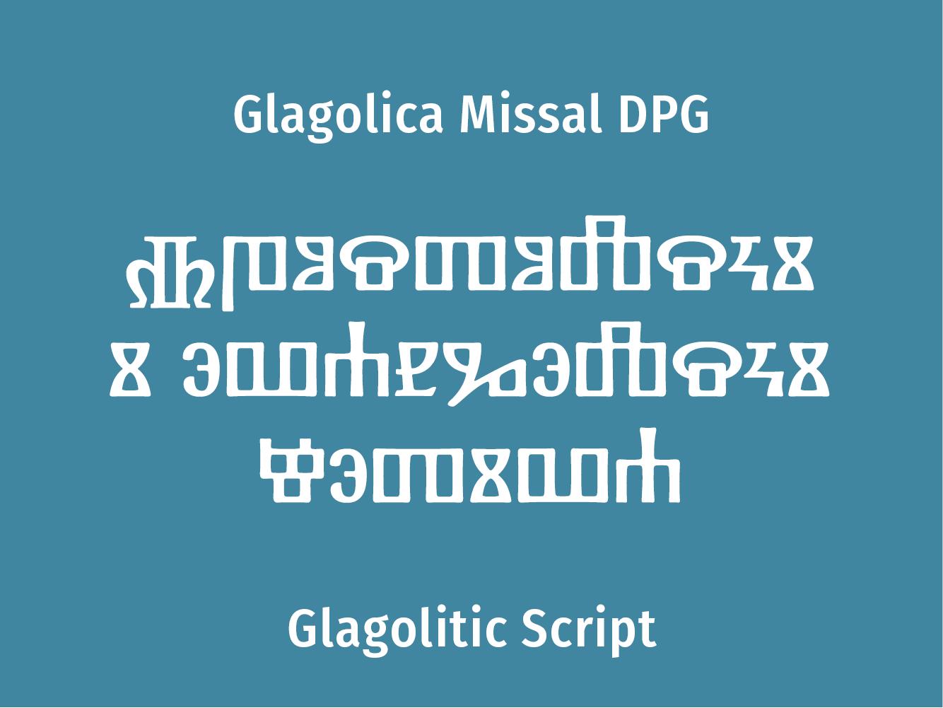 Glagolica Missal DPG