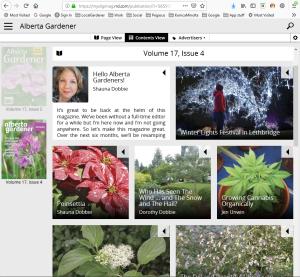 Alberta Gardener magazine app desktop version