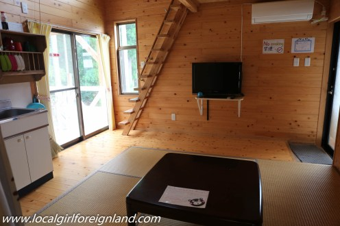 Cottage room. (remove this to place your tatami at night. Little Asia guesthouse minamiaso