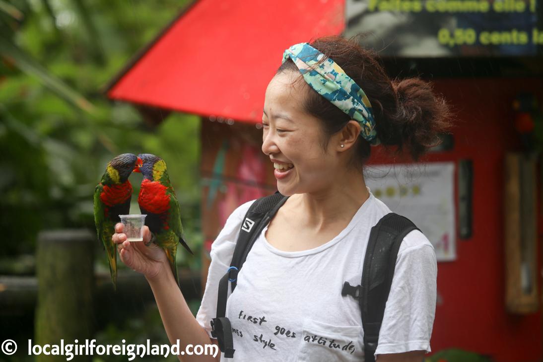Jardin Botanique Deshaies Guadeloupe Local Girl Foreign Land
