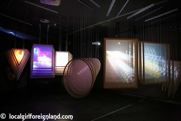 Inside Cibeles Palace (Madrid), contemporary art exhibition
